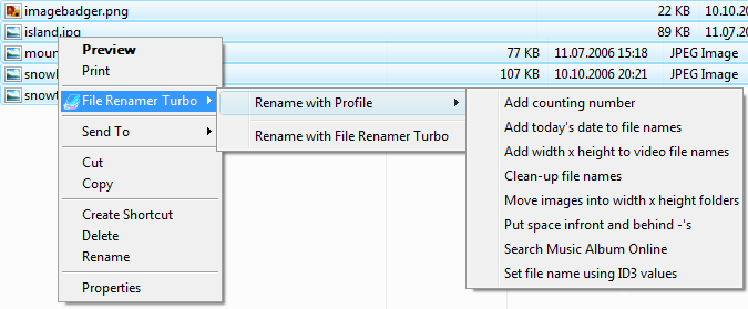 File Renamer Turbo Screenshot