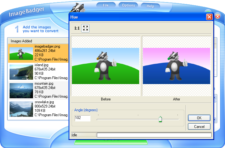 ImageBadger Screenshot