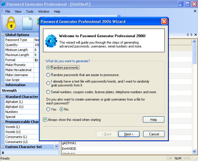 Password Generator Professional Screenshot